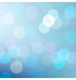 Blue defocused lights background vector image vector image