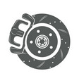 brake disk icon vector image vector image