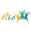 Brazil Flag Flat Rio de vector image vector image
