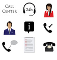 Call centre icon set vector image vector image