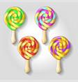 candy set caramel on stick vector image