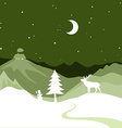 Christmas design - snowy path leads to a Christmas vector image