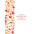 christmas party or dinner invitation vector image vector image