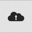 cloud upload icon isolated on transparent vector image vector image