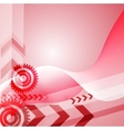 Colored arrow abstract background vector image vector image