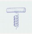 Cork screw hand drawn sketch