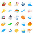 country of asia icons set isometric style vector image vector image