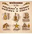 Cowboy party set vector image vector image