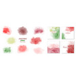creative minimalist watercolors hand-painted vector image vector image