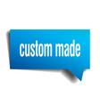 custom made blue 3d speech bubble vector image vector image