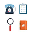 customer service set icons vector image vector image