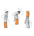 Cute cartoon cigarettes characters vector image vector image