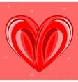 Decorative background with heart vector image vector image