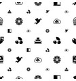 decorative icons pattern seamless included vector image vector image