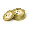 dogecoin cryptocurrency tokens vector image