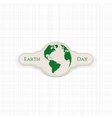 Earth Day Globe realistic paper Banner vector image