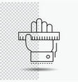 education hand learn learning ruler line icon on vector image vector image