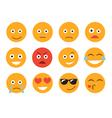 Emoticon Set emoticon face on a white background vector image vector image