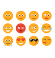 emoticon set face on a white background vector image vector image