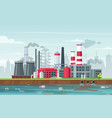 environmental pollution concept in flat style vector image vector image