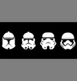 face collection of storm trooper vector image vector image