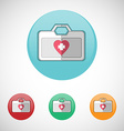 first aid kit icon set vector image vector image