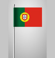 flag of portugal national flag on flagpole vector image vector image