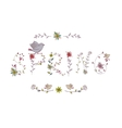 Floral elements of vintage Phrase Spring in vector image vector image
