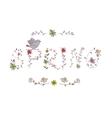 floral elements vintage phrase spring in vector image vector image
