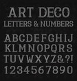 font in art deco style vintage alphabet white vector image