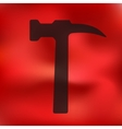 hammer icon on blurred background vector image