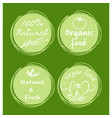 hand drawn green banners vector image vector image