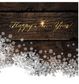 Happy New Year Golden Greeting on Wooden vector image vector image