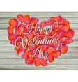 Heart from flowers on wooden table EPS 10 vector image vector image