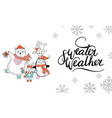 horizontal christmas card characters sweater vector image vector image