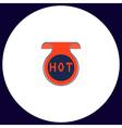 Hot computer symbol vector image vector image