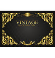 invitation with vintage elements vector image