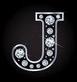 j letter made with diamonds isolated on vector image vector image