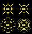 LiFi logo set vector image