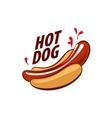 logo hot dog vector image vector image