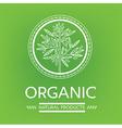 logo organic 05 vector image vector image