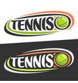 logos for tennis sport vector image vector image