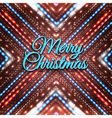 Merry Christmas on shining background vector image vector image