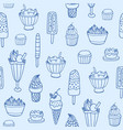 monochrome seamless pattern with delicious ice vector image vector image