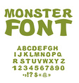 Monster font Green Swamp letters Horrible alphabet vector image vector image