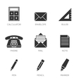 Office tools icons vol 2 vector image vector image