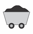 ore cart vector image vector image