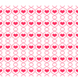 pattern with repeating hearts vector image vector image