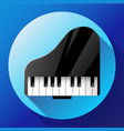 piano icon - a symbol of classical music chamber vector image vector image