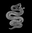 poisonous snake in engraving style design element vector image vector image